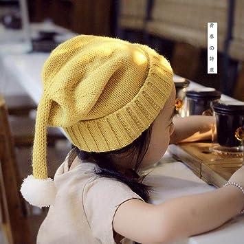 Wanglele Le Chapeau Chaud D-Ensemble De Couleur Solide Tête De Tricot  Enfants Fille, 16200b37031