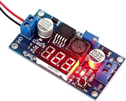 DC-DC Step Down Spannungsregler über Potentiometer einstellbar max 5A mit LED