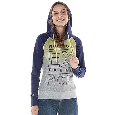 Extreme Pop Mujer Sudadera con Capucha Sudaderas Vintage Dip Dye Pullover Jumpers Impresión Digital Top Tops UK Stock: Amazon.es: Ropa y accesorios