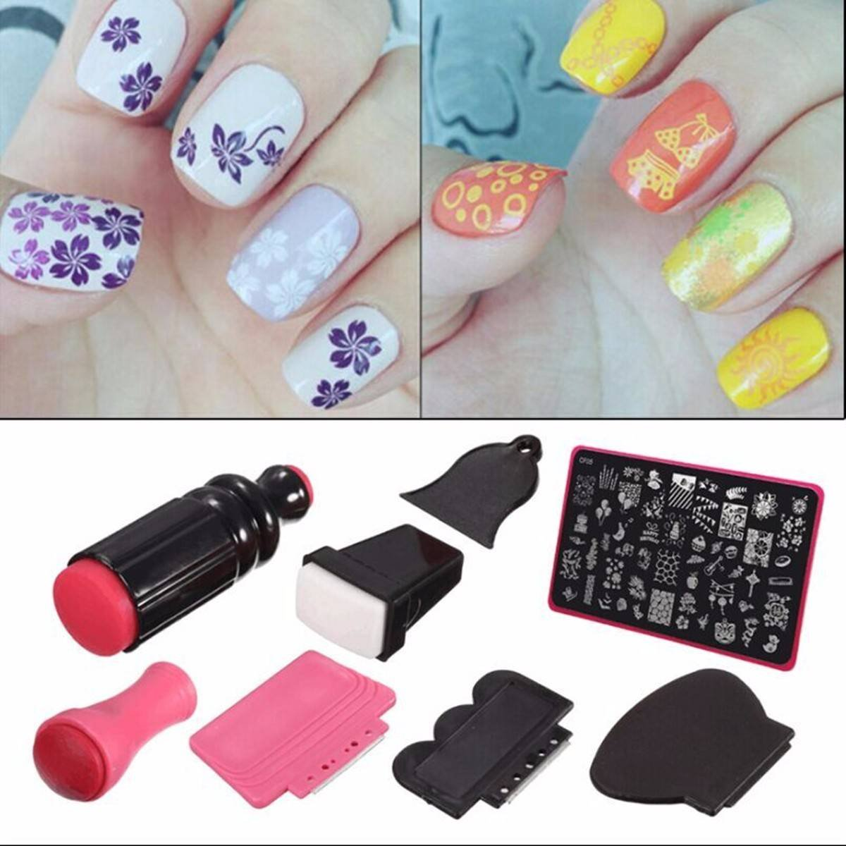 Amazon nail art stamperdancingnail beauty lady nail art amazon nail art stamperdancingnail beauty lady nail art scraper stamping manicure polish plate double ended stamper image tool kit set and nail plate prinsesfo Images