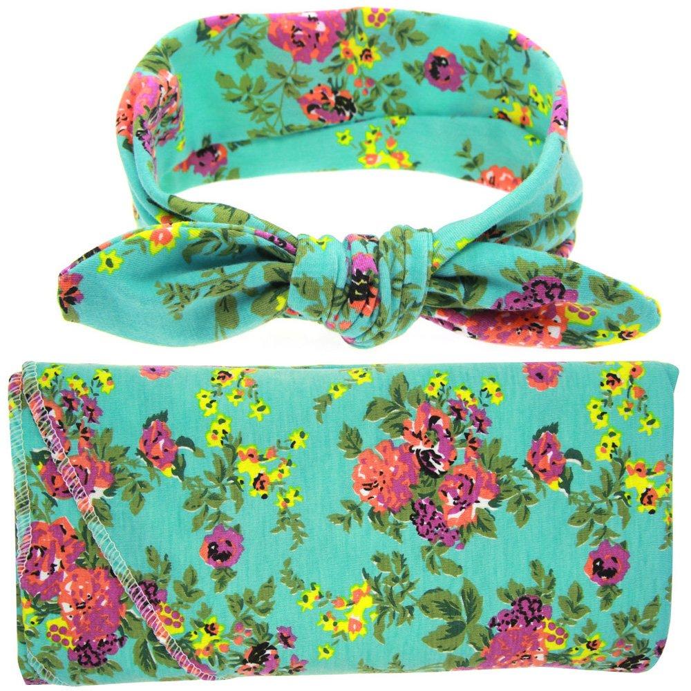 babylaza telo per fasciare il neonato set con copertina e fascetta per capelli per neonati asciugamano per bambini omaggio