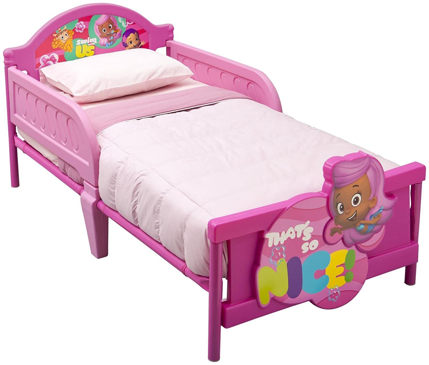 amazon com nickelodeon bubble guppies 3d bed childrens furniture