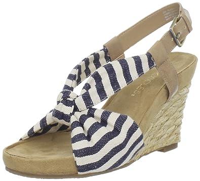 Aerosoles Women's Plush Pillow Wedge Sandal,Dark Blue Stripe,9.5 ...