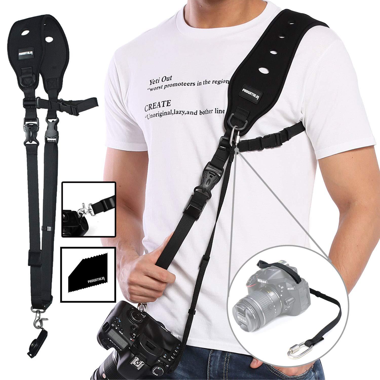 PROWITHLIN Fotografía Profesional Set - Correa para el Hombro con Seguridad Tether Placa de Montaje para