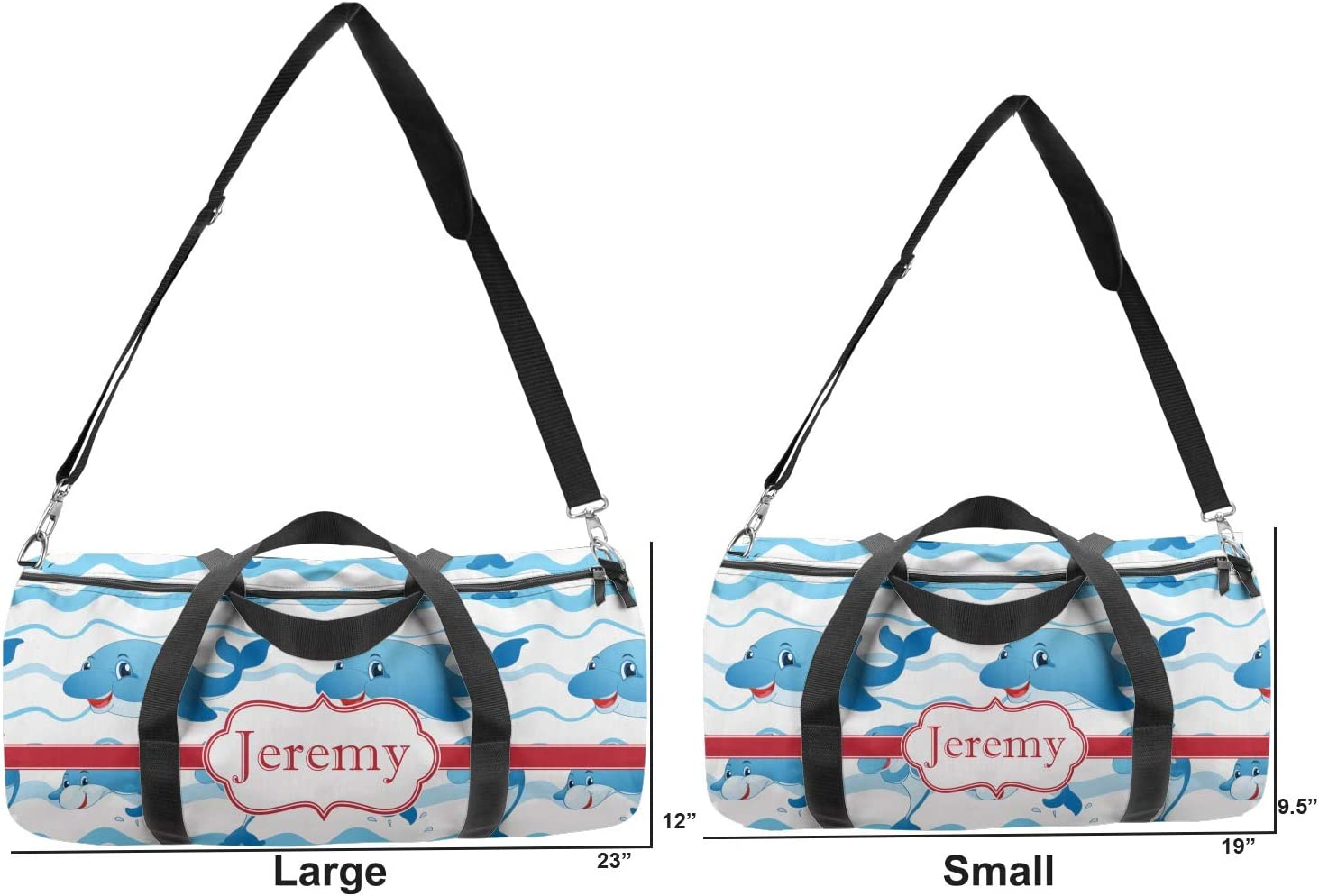Personalized YouCustomizeIt Dolphins Duffel Bag
