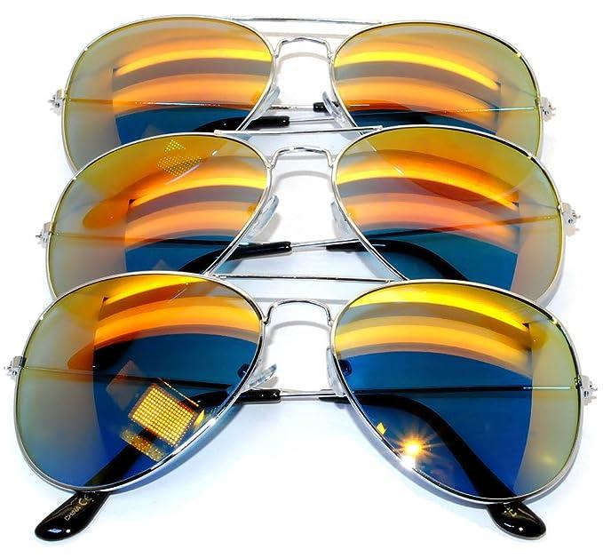 f6455e6ad1f Amazon.com  Aviator Classic Sunglasses Black Silver Bronze Gold Blue ...