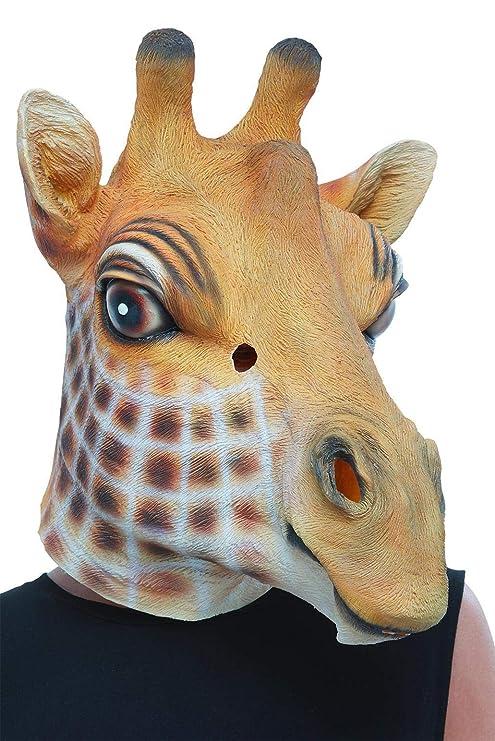 Smiffys 50881 - Máscara de látex para hombre, diseño de jirafa, color marrón