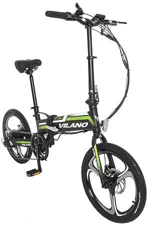 Vilano Atom eléctrico, Bicicleta plegable 50,8 cm Mag ruedas