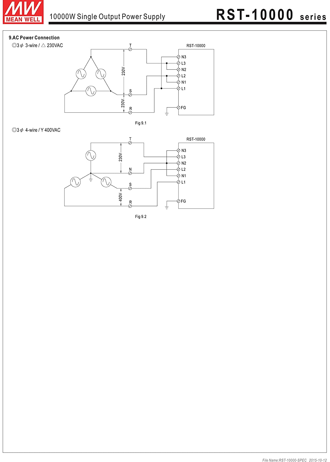 Mw Mean Well Rst 10000 48 48v 210a 10080w Single Output 12to 16vdc Regulated Power Supply Circuit Diagram With Pfc Function Computers Accessories