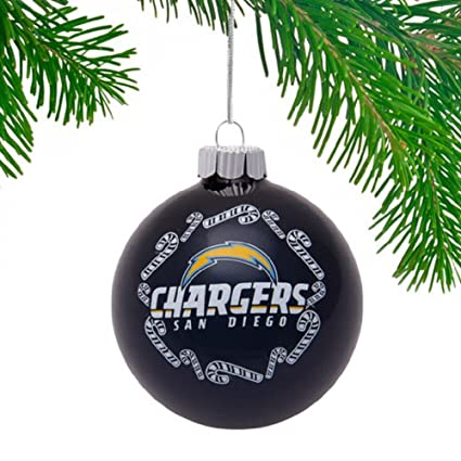 San Diego Chargers 2 5/8'' Painted Round Candy Cane Christmas Tree Ornament - Amazon.com : San Diego Chargers 2 5/8'' Painted Round Candy Cane
