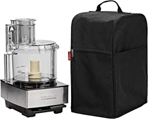 NICOGENA Food Processor Dust Cover with Accessory Pockets Compatible with Cuisinart Custom 11-14 Cup, Black (Dust Cover Only)