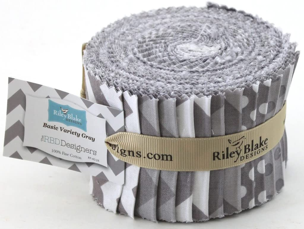 CAT Rolie Polie 40 2.5-inch Strips Jelly Roll Riley Blake Designs RP-9100-40
