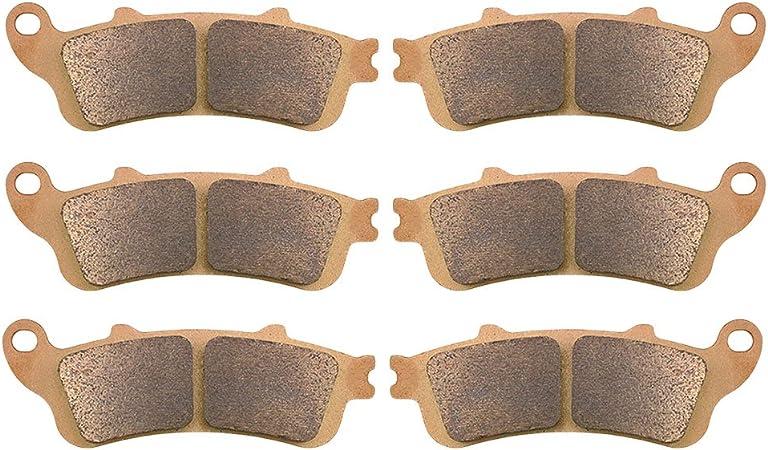 Ahl 3 Paar Bremsbeläge Kit Für Gl 1800 Goldwing All Models 2001 2013 Xl 1000 Vx Vy V1 V2 Varadero No Abs 1999 2002 Auto