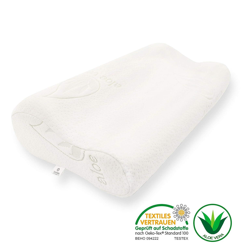 Besser einschlafen mit dem Nackenstützkissen aus Aloe Vera