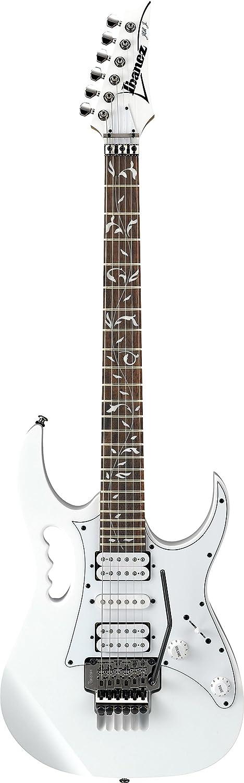 Ibanez jemjr Steve Vai Firma Jem Series Guitarra eléctrica color blanco con gamuza de limpieza, pegwinders, sintonizador, y guía libro: Amazon.es: ...