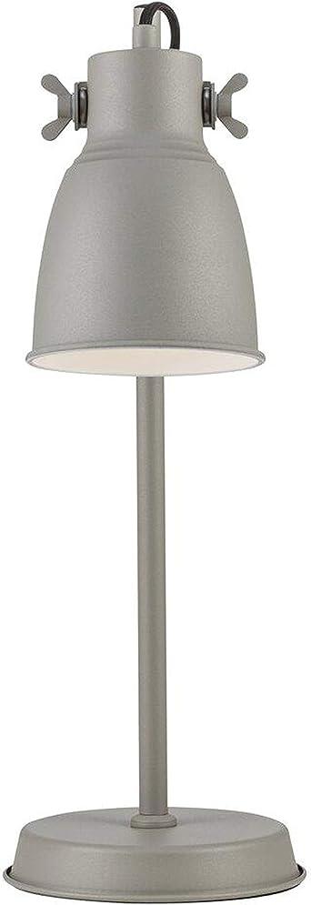 Adrian - Lámpara de mesa (E27, IP20), color gris: Amazon.es ...