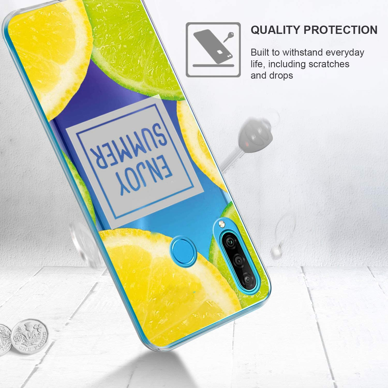 Kompatibel mit Huawei P30 Lite H/ülle Handyh/ülle Case Huawei P30 Lite Schutzh/ülle Silikon Weich TPU D/ünn Transparent Marmor Bumpe Cover f/ür Huawei P30 Lite Etui