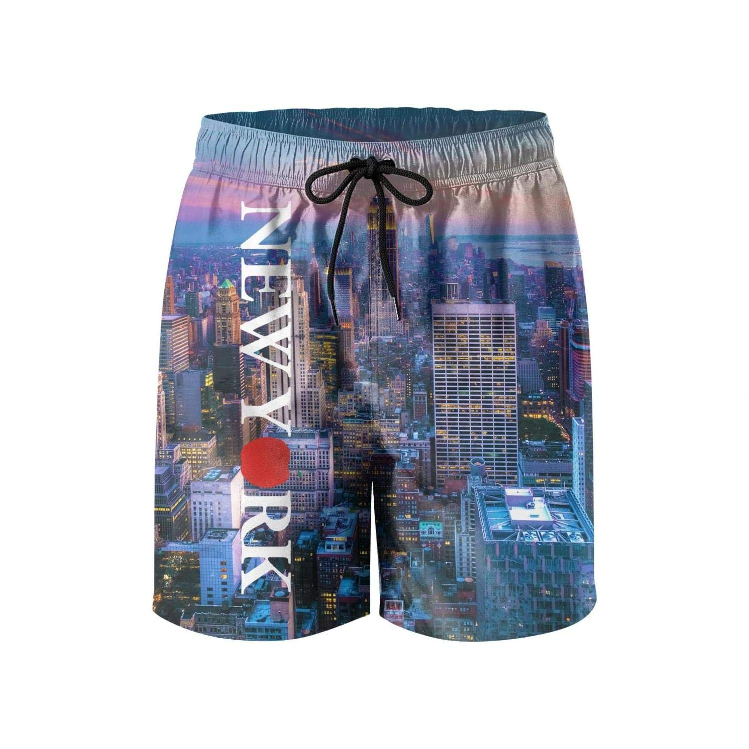 New York Love Heart Mens Guys Shorts Summer Fashion Beach Shorts Swim