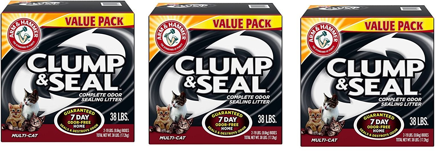 Arm and Hammer eSnYSM Clump and Seal Multi-Cat Litter, 38 lb (3 Pack)