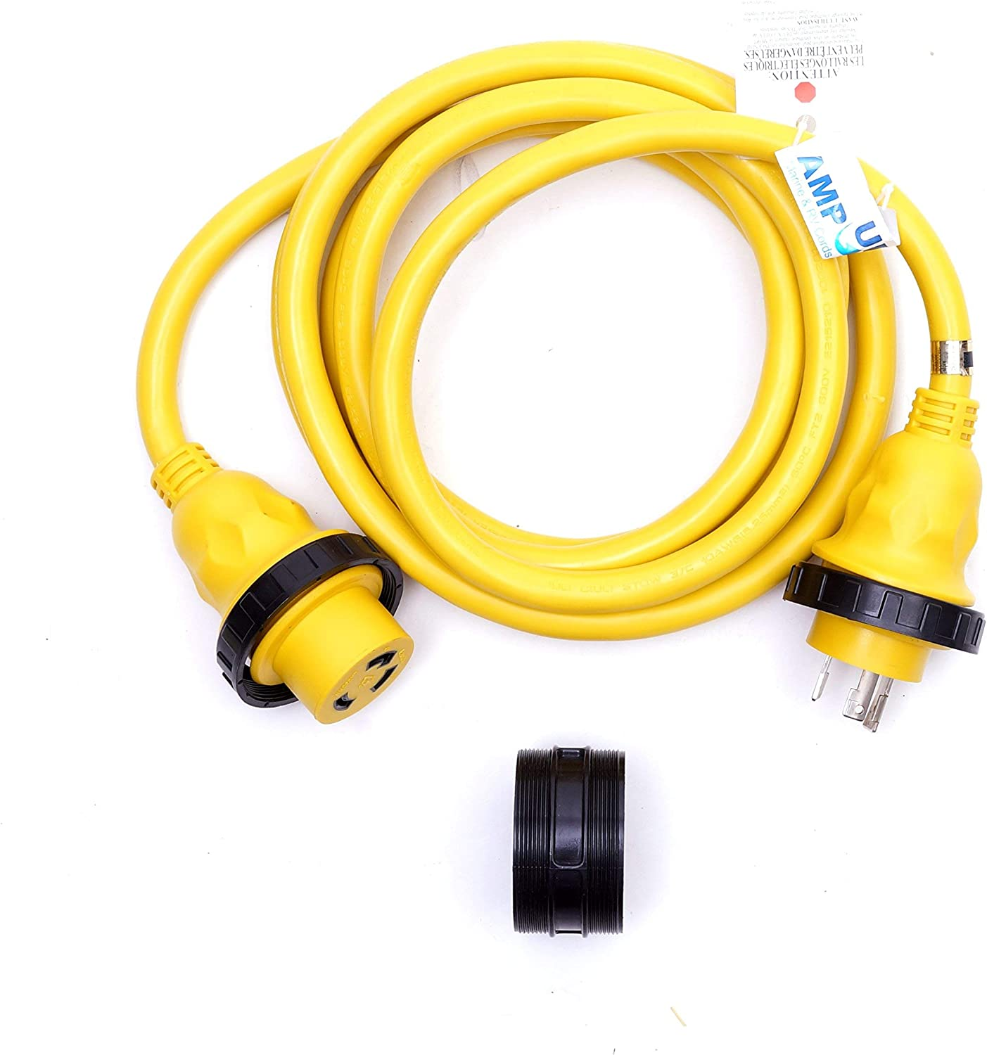 Amp Up Marine & RV Cords 125v 30 amp x 12' Marine Shore Power Boat Extension Cord, 12 ft - 21311