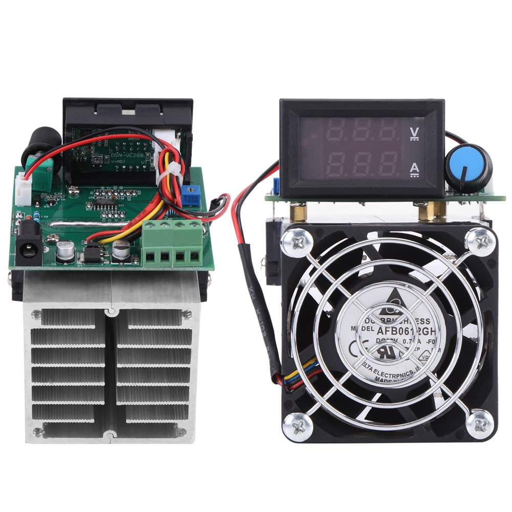 DC 12V DC Load Yester 0-10A 100W Intelligent Constant Current Electric Discharge Monitor for Power Bank Capacity Testing Electronic Load Battery Capacity Tester Module