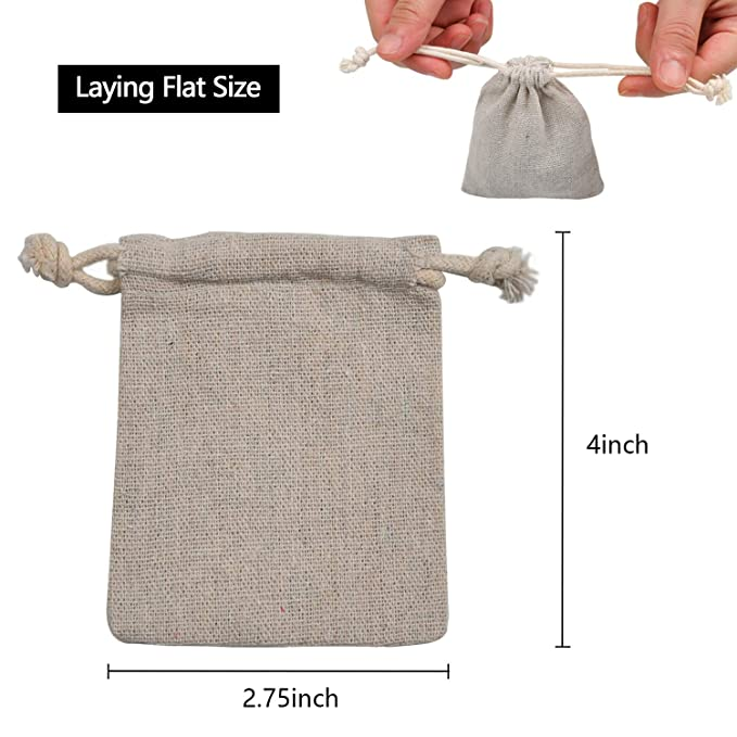 Amazon.com: Calary - Bolsa de algodón con cordón doble para ...