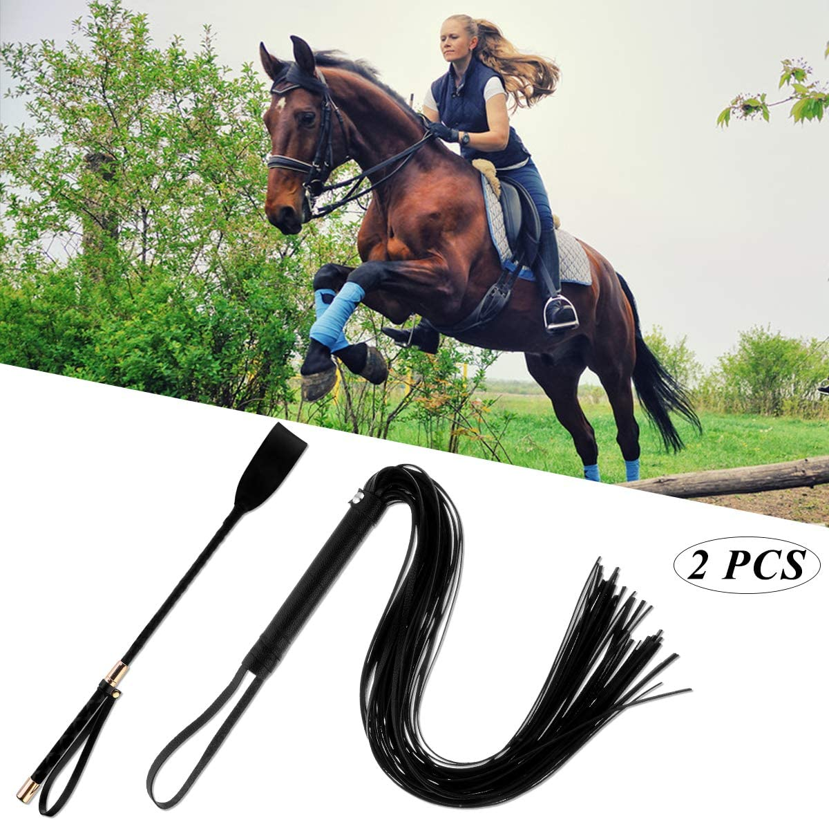 Faux Leather Horse Riding Whip Whip and Crop