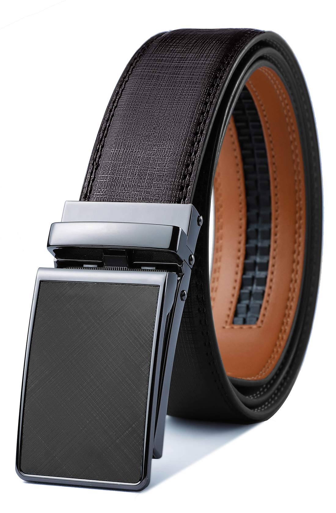 Mens Belt,Bulliant Designer Click Ratchet Belt For Men,Genuine Leather, Size-Customized