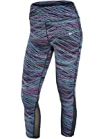 Nike Power Epic Lux Dri-Fit 799796-901 Black/Blue/Green Women's Running Tights