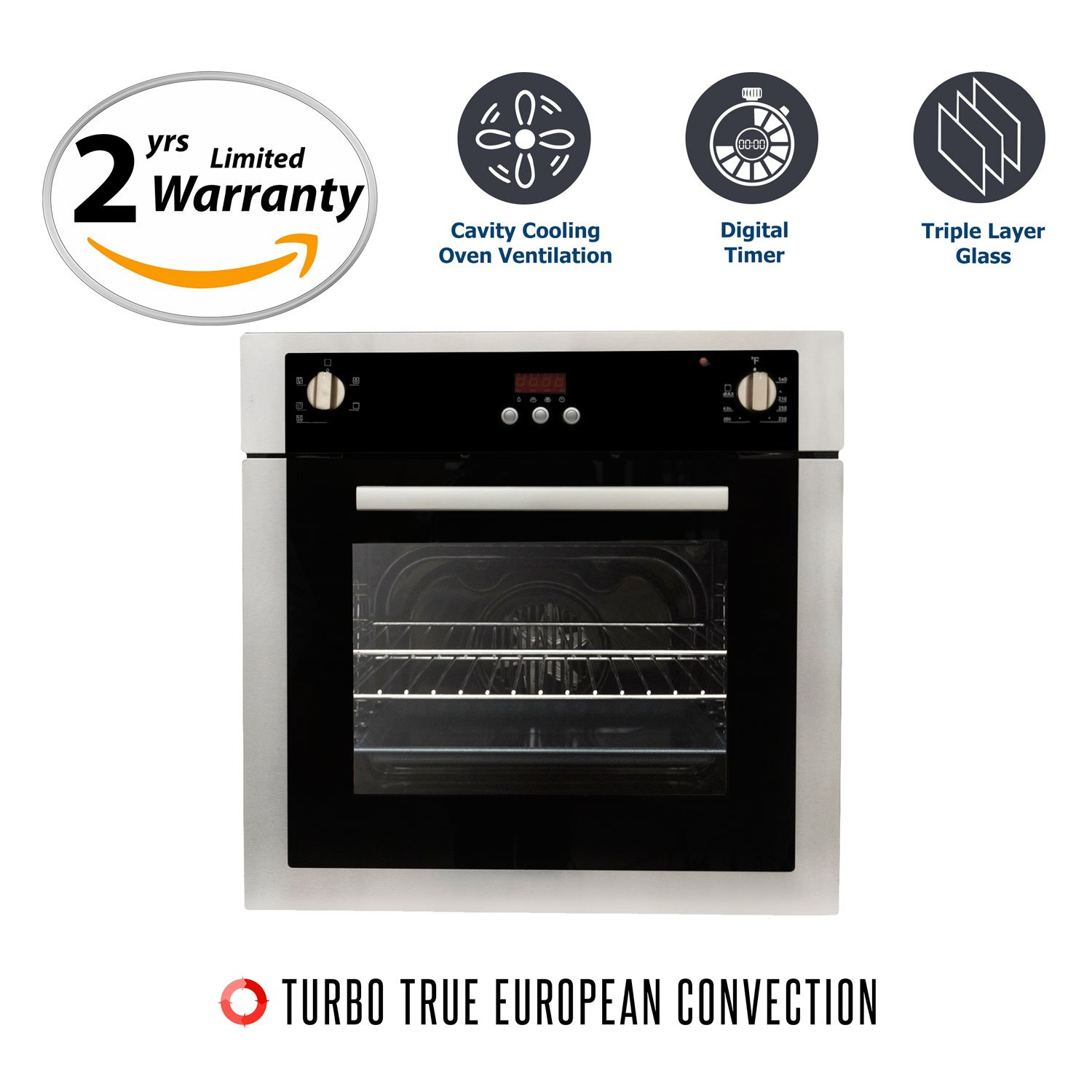 Cosmo C51EIX 24 in. Single Electric Wall Oven with Convection by Cosmo (Image #1)
