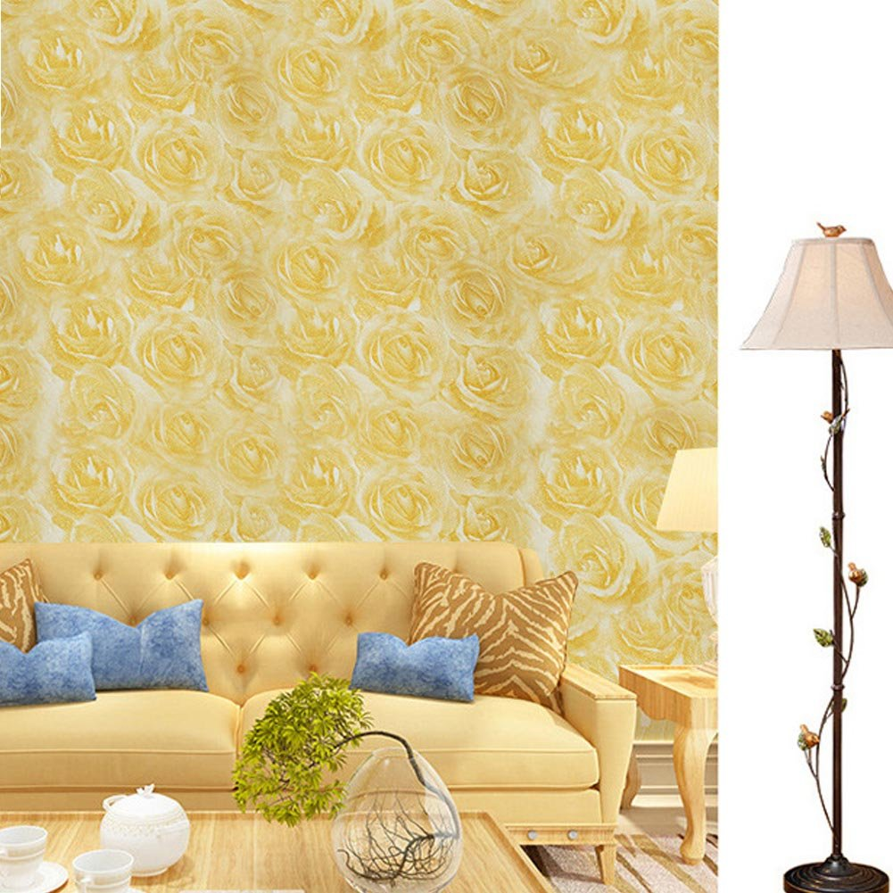 Self Adhesive Wallpaper, Peel And Stick Thick 3D Texture Home Decor ...