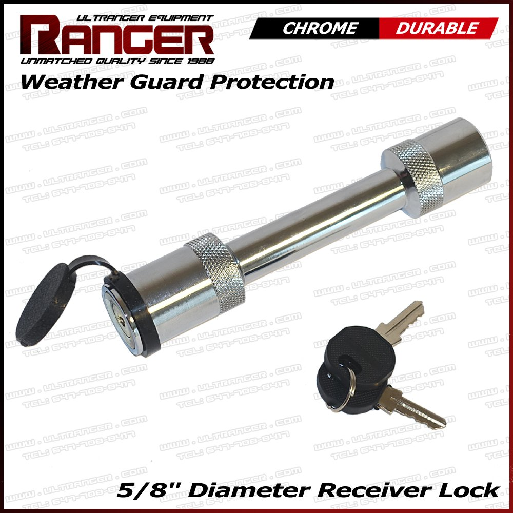 Ranger Heavy Duty Locking 5/8' Inch Hitch Pin with Weather Guard Protection Ultranger HL-LOCK