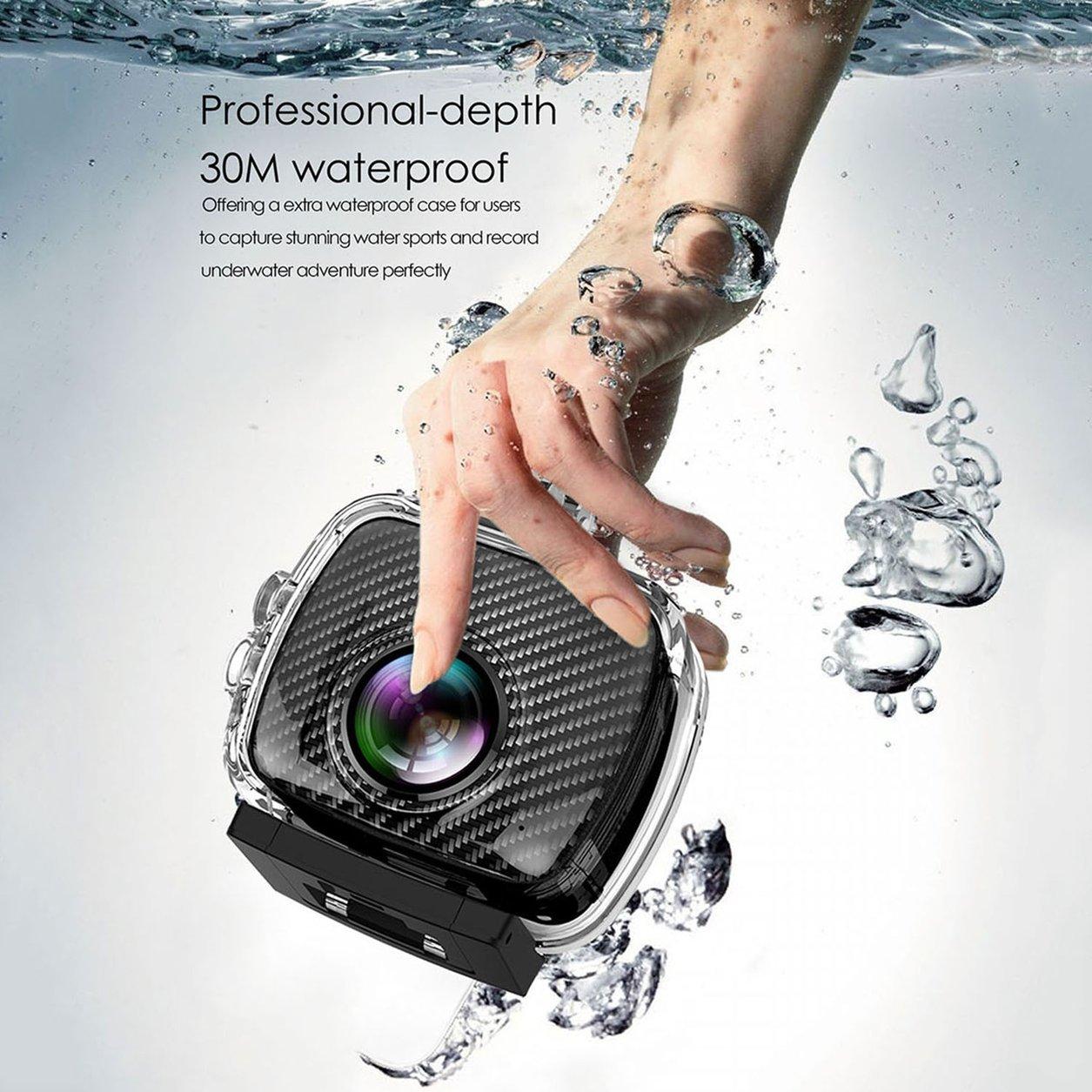 Magicsee P3 360 Panoramic Camera Dual Lens Waterproof Case Pro 16MP VR Camera(Color:black) B07KP75QGT