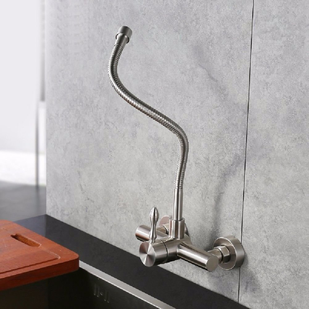 A Gyps Faucet Basin Mixer Tap Waterfall Faucet Antique Bathroom Mixer Bar Mixer Shower Set Tap antique bathroom faucet The wall faucet hot and cold 304 stainless steel kitchen dish washing basin of the