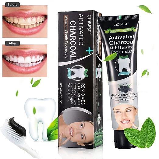 26 opinioni per Carbone Dentifricio, Dentifricio Sbiancante, Activated Charcoal Teeth Whitening