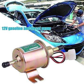 Footprintse Bomba de Combustible Aceite eléctrico para Bomba de Combustible Diesel para automóviles Diesel en línea de 12 V para Motores de Gasolina Diesel ...