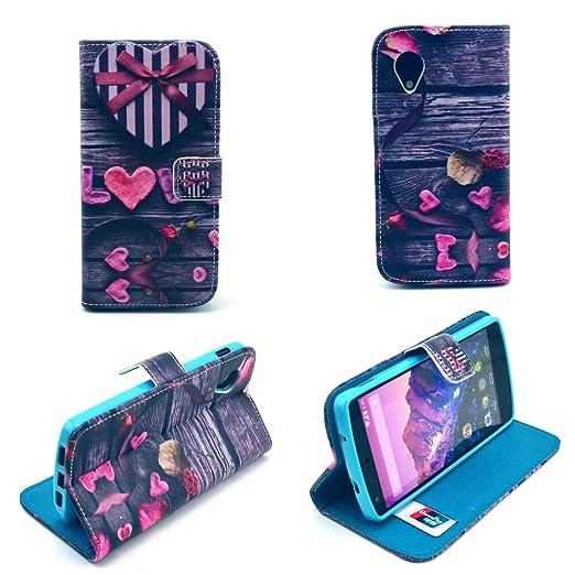 16 opinioni per Dokpav® Google Nexus 5 Custodia,Ultra Slim Sottile Flip Pelle PU Case Cover per