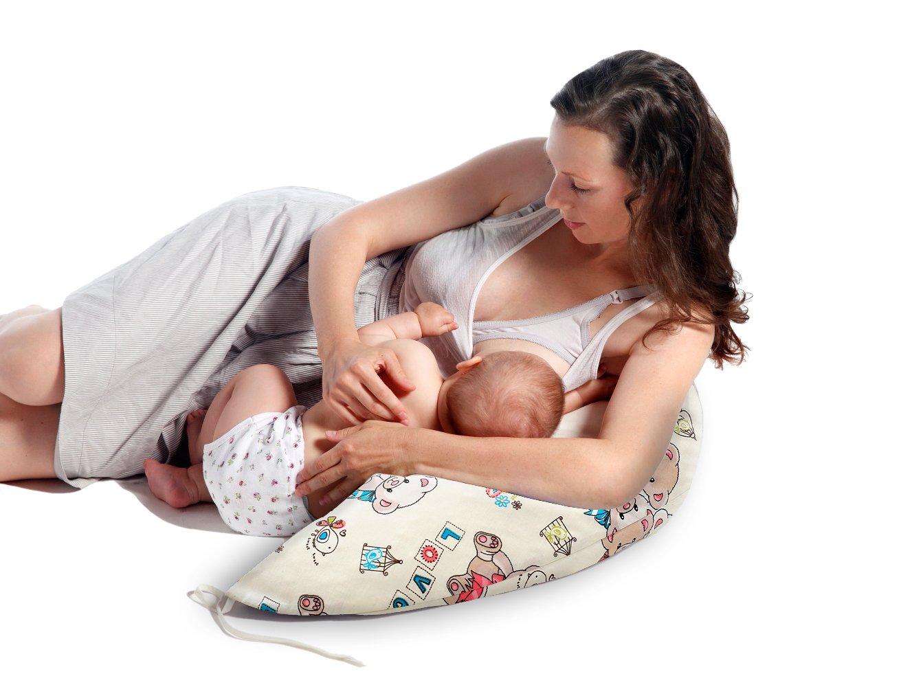 Cojin de Lactancia , Almohada bebe , Almohadas de Maternidad con de copos de Látex , Cojin de Embarazo amamantamiento Multifunción Almohada 170 centimeter: ...