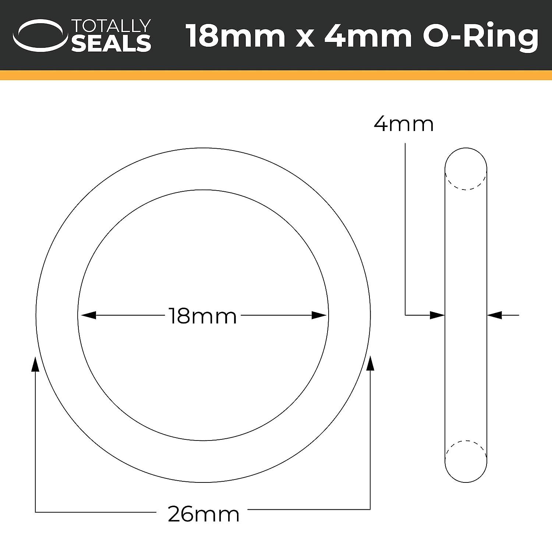 Schwarz 18/mm x 4/mm metrisches Nitril O-Ringe/-/70/A Shore