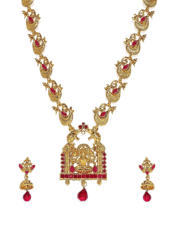 Zaveri Pearls Sacred Goddess Temple Necklace Set For Women