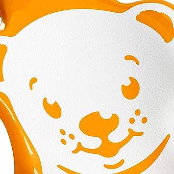OKBABY Buddy 8 kg - Orange Transat Anatomique avec Assise en Gomme Anti-d/érapante pour le Bain des Nouveaux-n/és 0-8 Mois