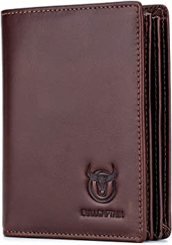 Mens Brown Soft Leather Bi-Fold Wallet with Edge Stitching