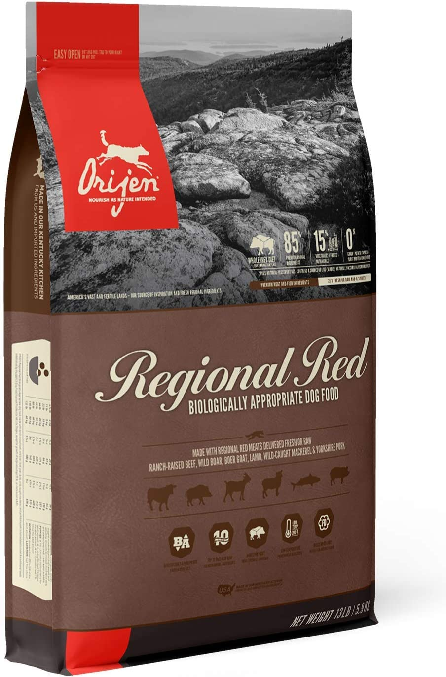 ORIJEN Dry Dog Food, Grain-Free, High Protein, Fresh and Raw Animal Ingredients