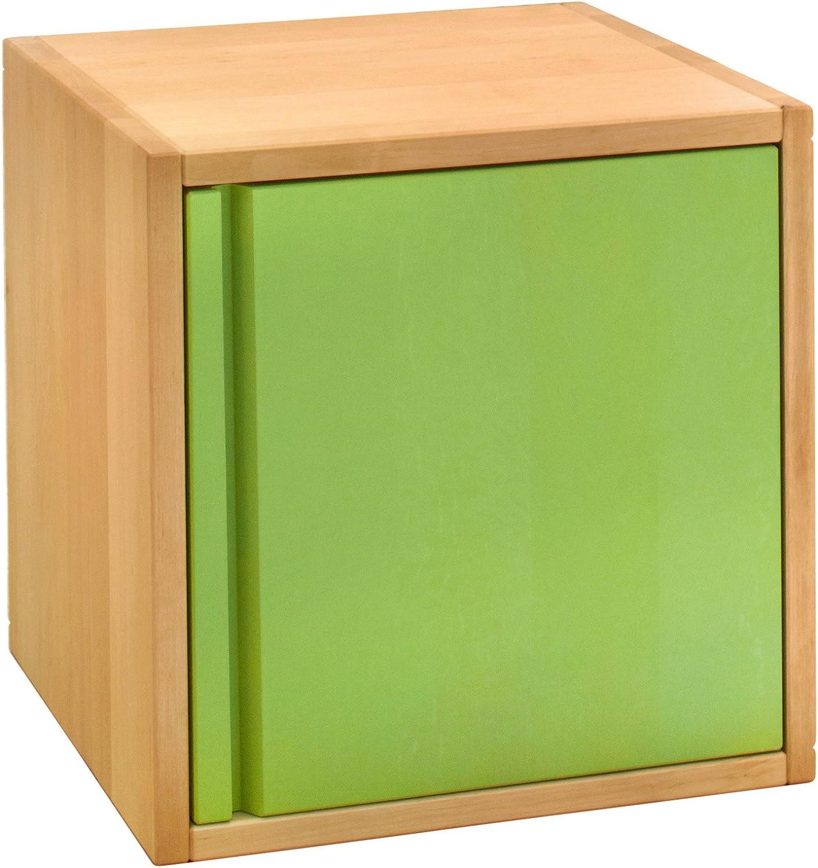 BioKinder 22285 Laura Regalw/ürfel Kommode Regalelement mit Schublade aus Massivholz Erle 20 x 80 cm