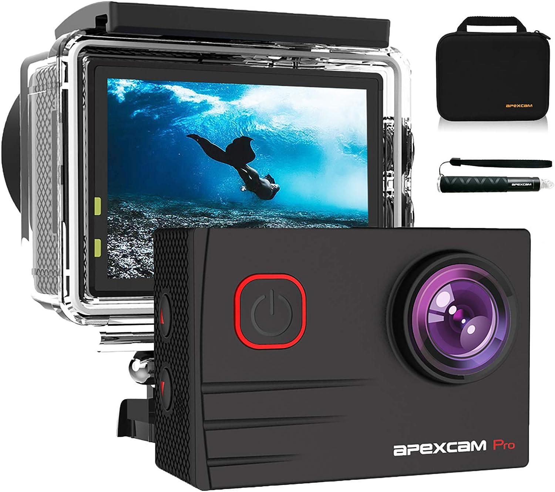 Apexcam Pro Action Cam 4k 20mp Sports Camera Wifi Camera Photo