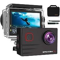 Apexcam Pro Cámara Deportiva 4K 20MP EIS WiFi Action Camera Cámara subacuática Impermeable 40M Micrófono Externo 2.0'LCD…