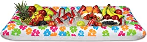 Beistle Novelty Inflatable Hibiscus Flower Buffet Cooler – Luau Food Drink Holder Server Tray-Indoor Outdoor Beach Tropical Hawaiian Summer Party Décor, 28