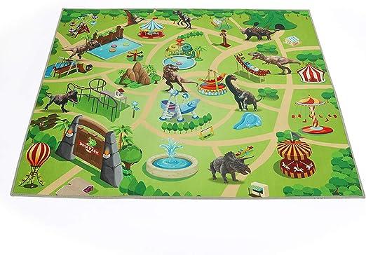 Alfombra para niños, Dina Park de 47 x 39 Pulgadas, Alfombra de Juego de Dinosaurio para niños, Alfombra de decoración para habitación de niños: Amazon.es: Hogar