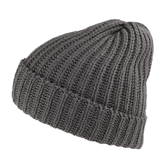 1d9f8417857 Highland 2000 Merino Wool Short Fisherman Beanie - Charcoal 1-Size ...