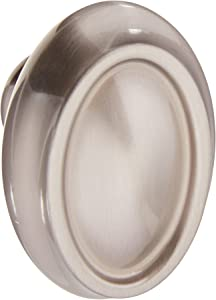 "Amerock BP26127-2-G10 Satin Nickel Cabinet Hardware Oversized Knob - 2"" Length - 1-3/8"" Width - 10 Pack"